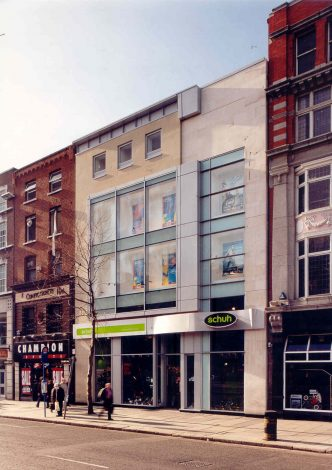 schuh o connell street protected structure fitout architecture oppermann